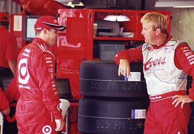 Casey Mears and Sterling Marlin