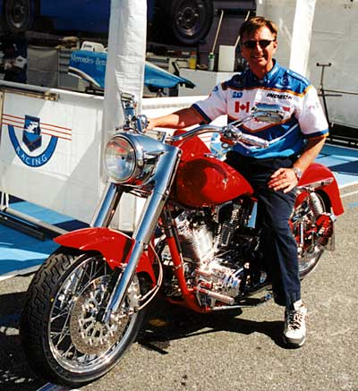 Steve Challis on his new motorcycle