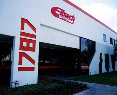 Entrance to Eibach's Irvine facility