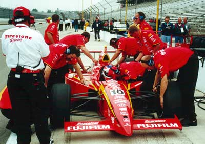 Jimmy Vasser in car