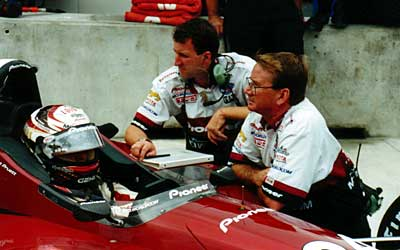 John Dick waits with Scott Pruett