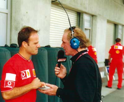Rubens Barrichello and Derek Daly