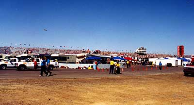 Infield at start of race