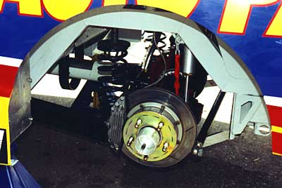Truck left-rear suspension